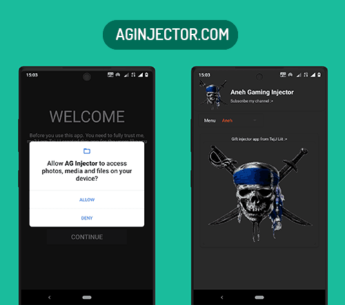 allow storage permission to aneh gaming injector app