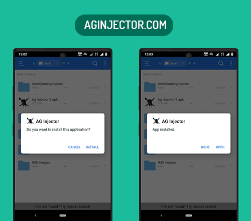 install ag injector apk on android device