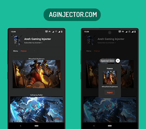 unlock skins of mobile legends using ag injector app