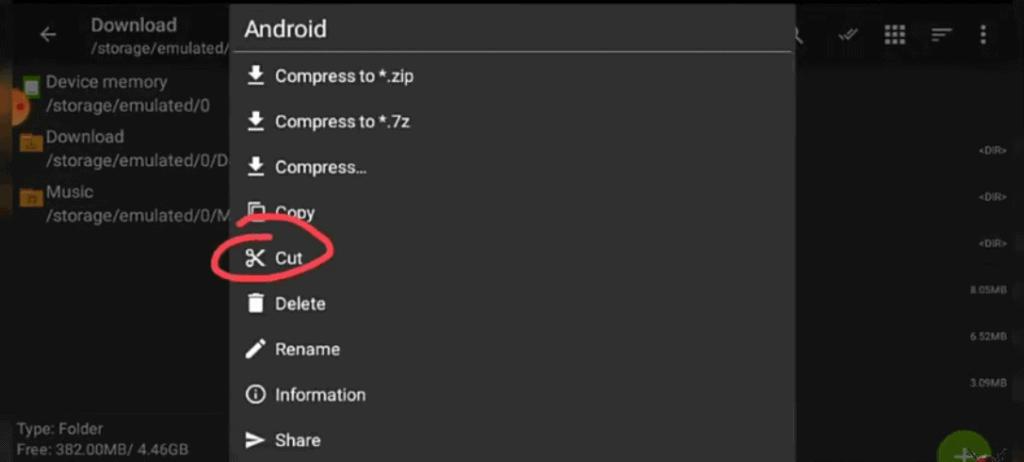 copy the android alucard folder