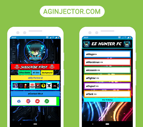 open ez hunter fc app to unlock skins
